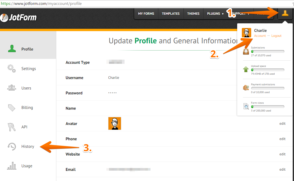 How to View Your Account Activity Logs | JotForm