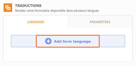 Add Form Language