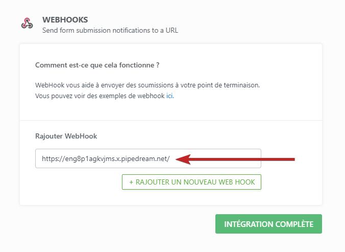 WebHook URL