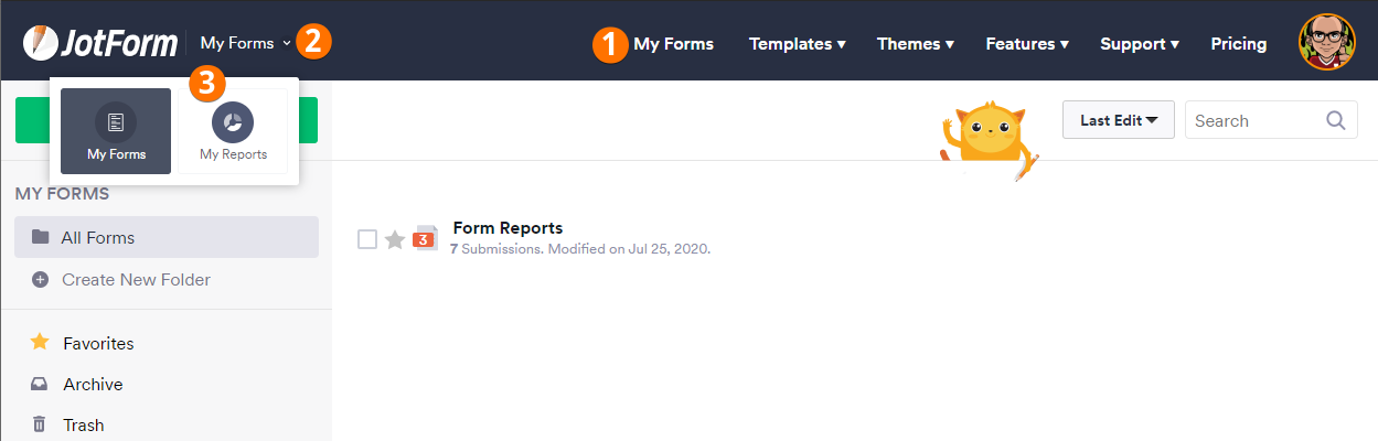 Accessing My Reports Page