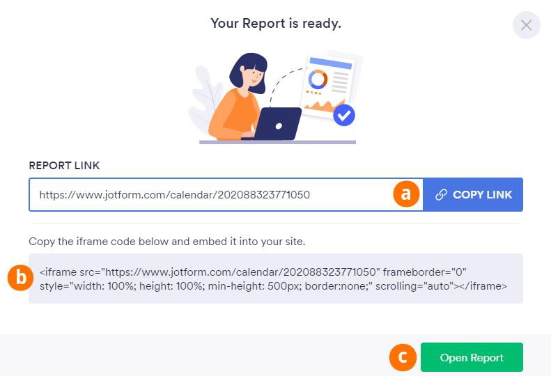 Create Calendar Report Ready