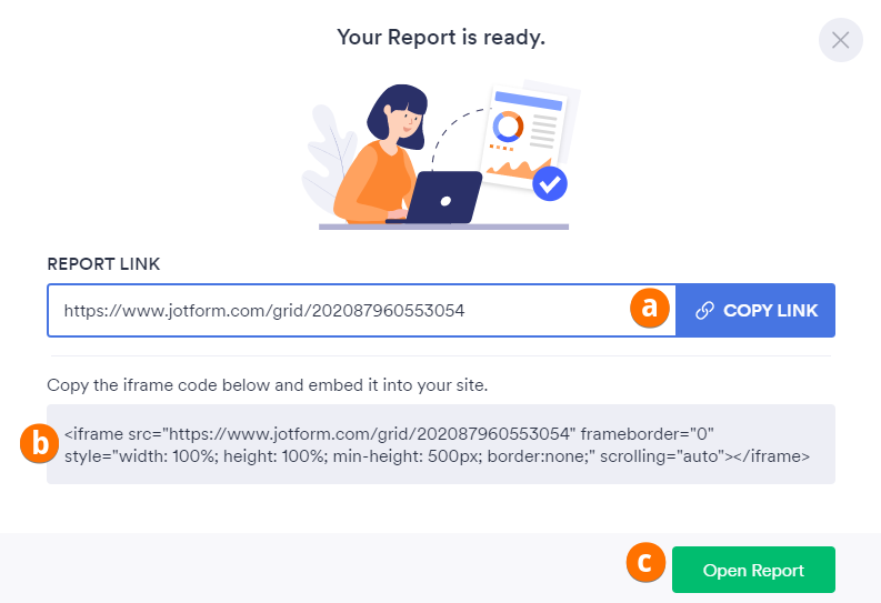Create Grid Report Ready