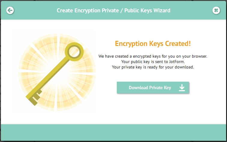 Encrypted Keys Created