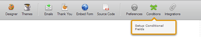 Conditions in Toolbar