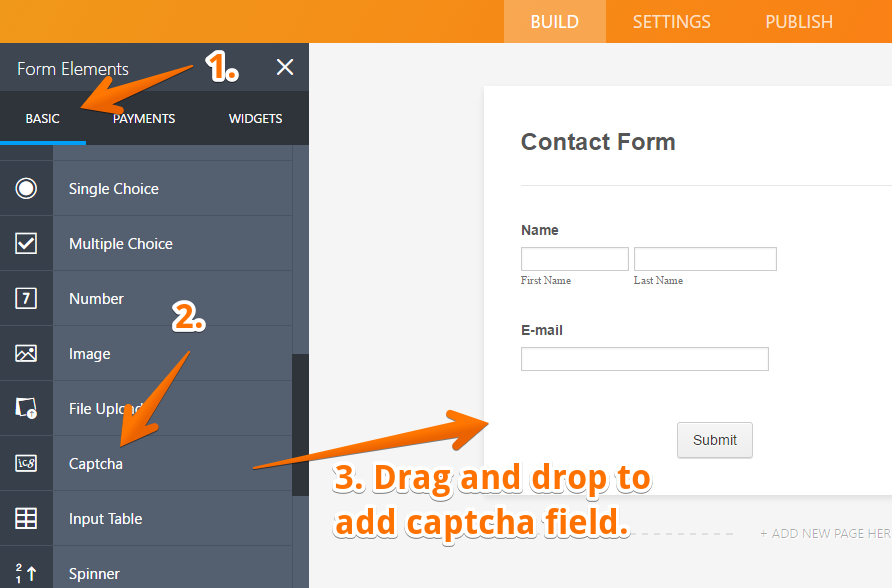 How to Add a Captcha Field | JotForm