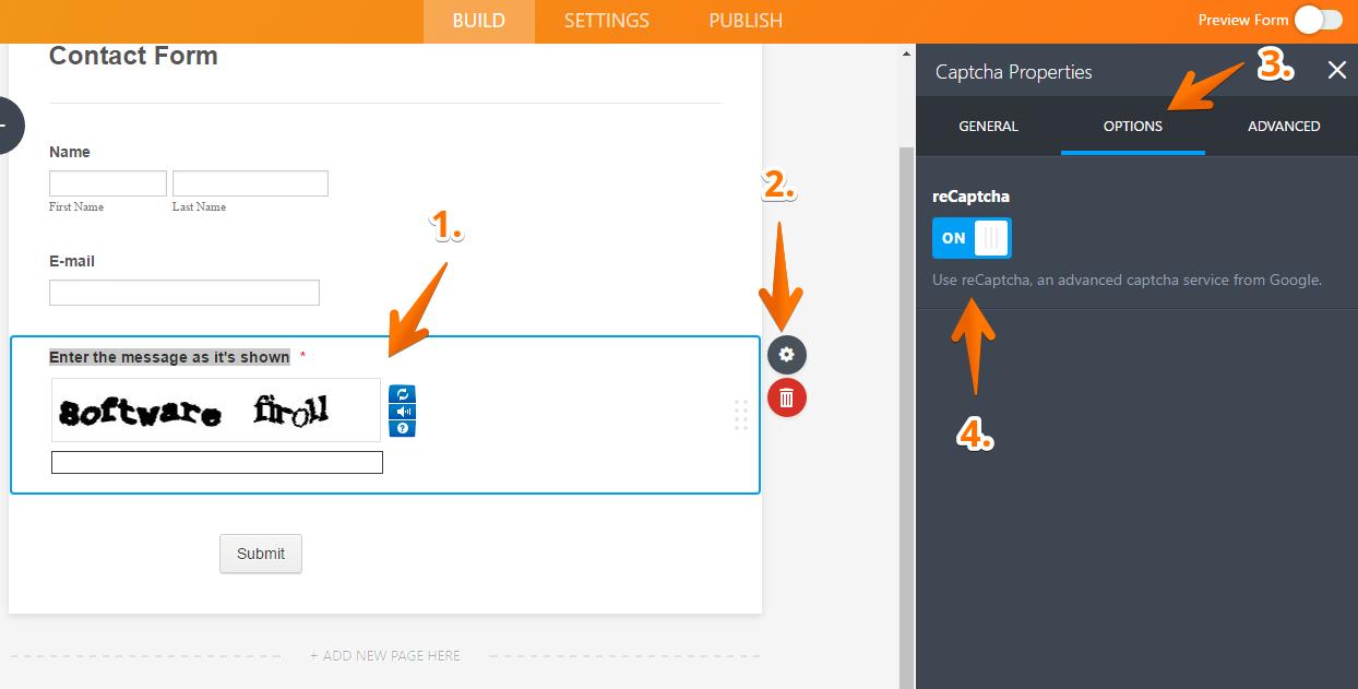 How to Add a Captcha Field | JotForm