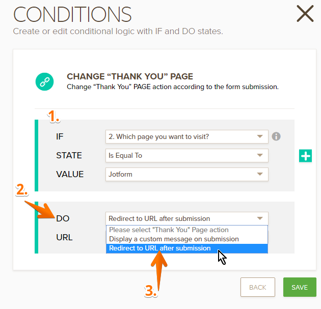 Change Thank You Page URL Based on a Condition