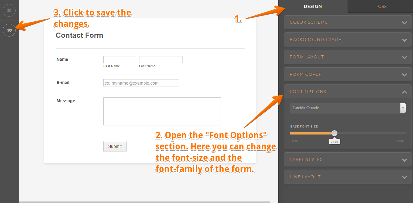 how to change font in pdf form