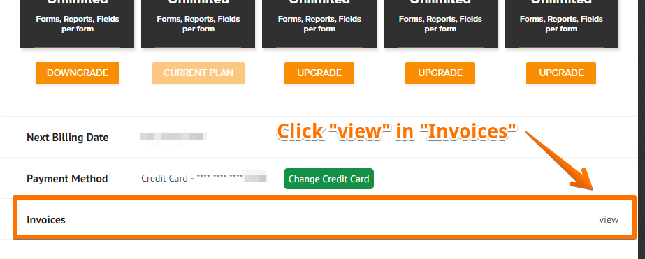 It Will Then Show The List Of Invoices For Your Subscription/s. Click The    Invoices