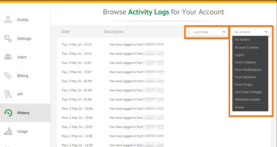 How to View Your Account Activity Logs