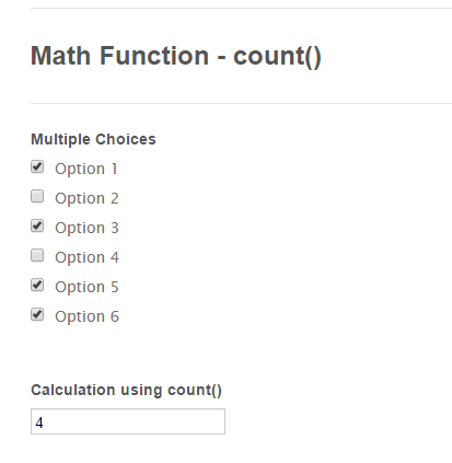 Form Calculation - Math Function Reference