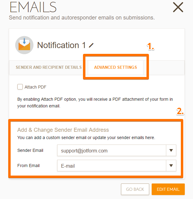 Set The Sender Email Address With Mandrill Account | JotForm