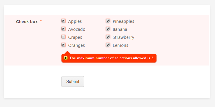 How to Limit the Number of Selections on a Checkbox Field