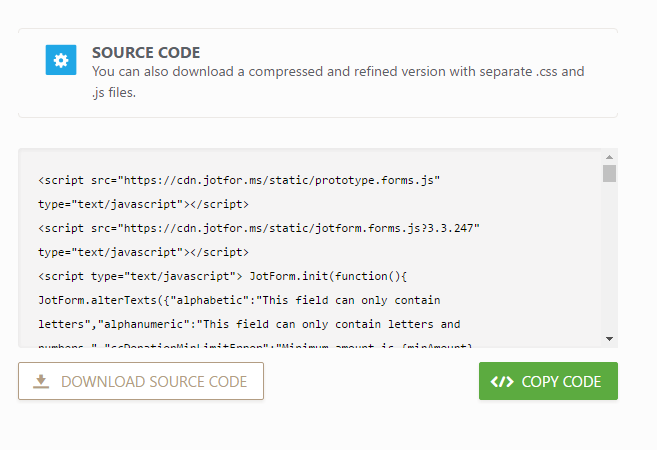 Which Form Embed Code Should I Use | JotForm