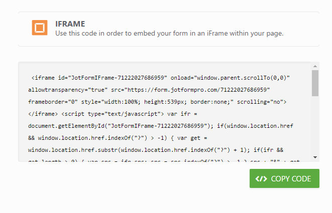 Which Form Embed Code Should I Use
