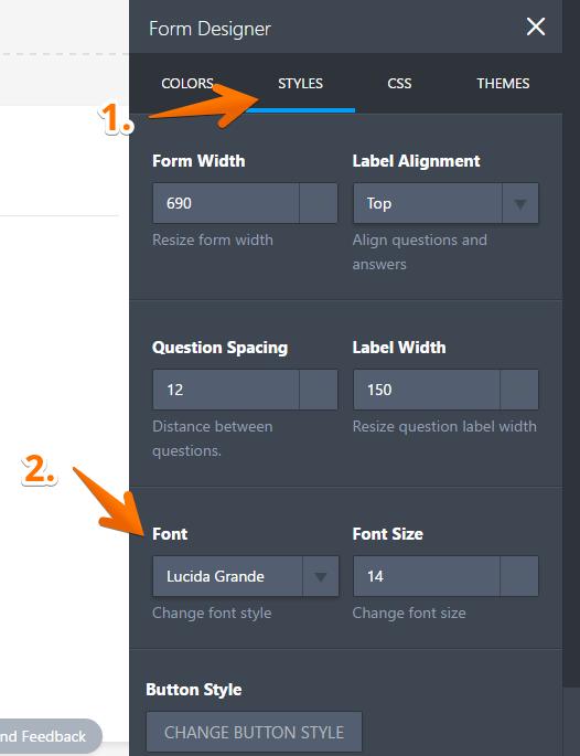 How to Change Form Fonts   JotForm