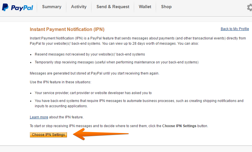 How to Enable IPN on your Paypal Account