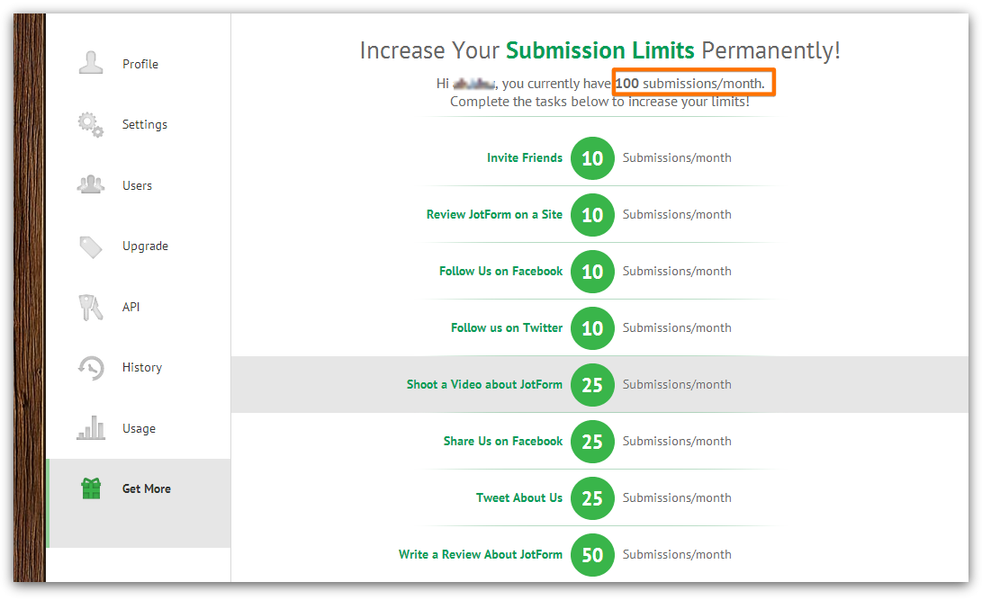 LIMITS OF SUBMISSION