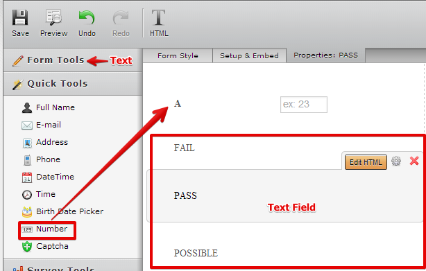 How To Add Greater Than And Less Than Condition For Form Calculation