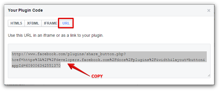 how to add facebook share button