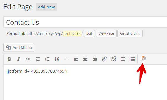 Embed JotForm in Wordpress using the Embed Form Plugin