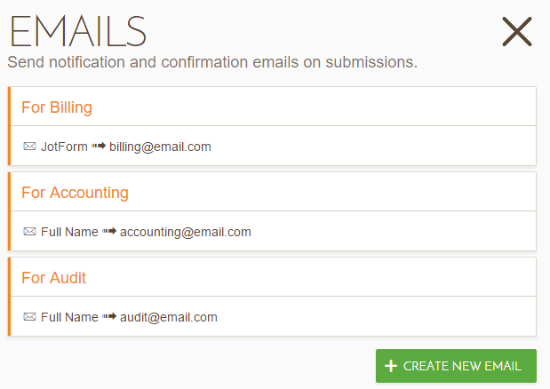 how to send multiple emails to different addresses
