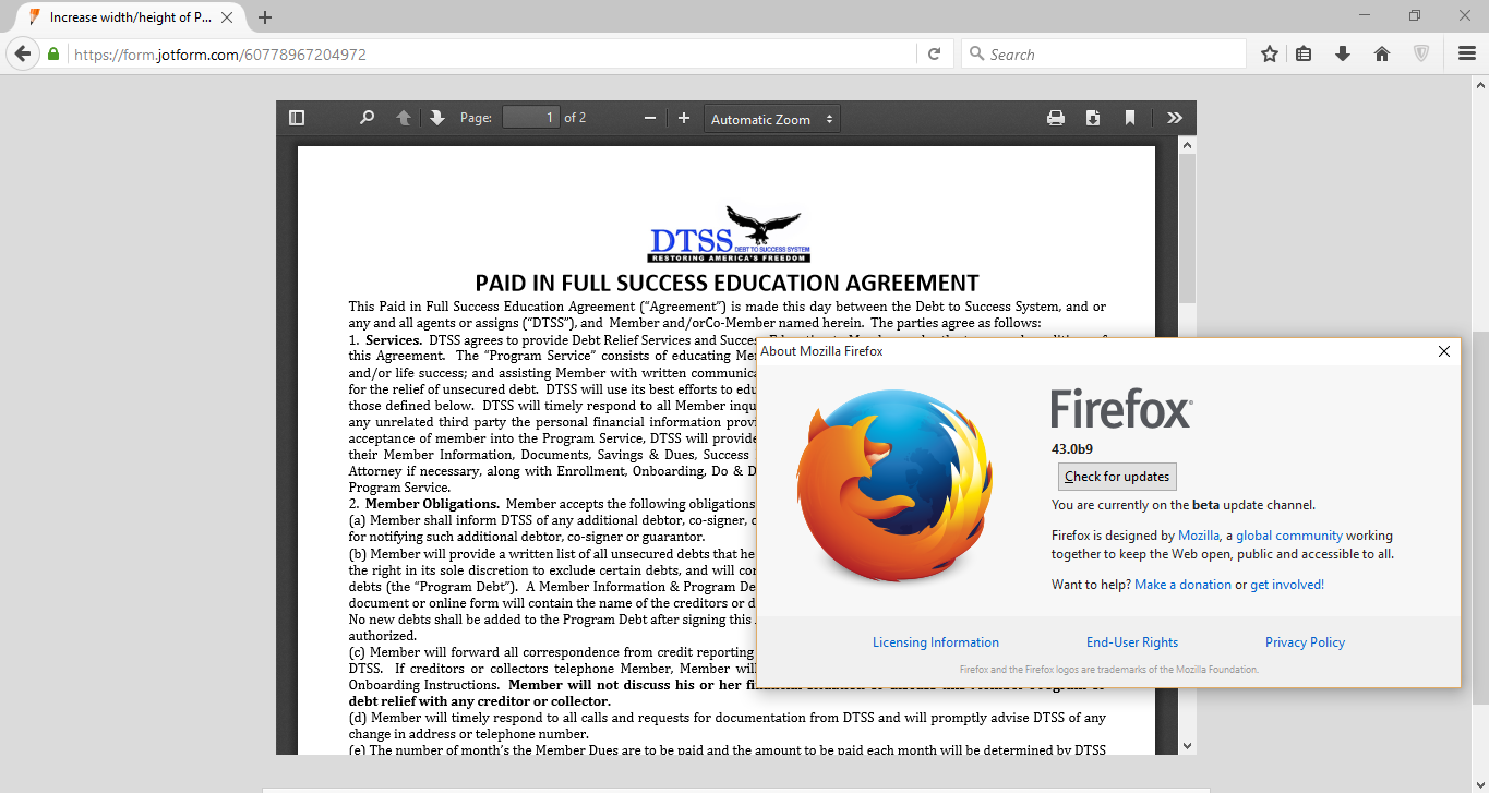 Why the embedded PDF via iframe does not display on Firefox