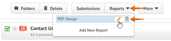 How to customize pdf submissions report jotform click the reports button at the top menu then the pencil icon to edit the pdf design ccuart Image collections