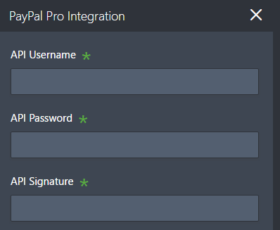 How to Integrate Form with Paypal Pro
