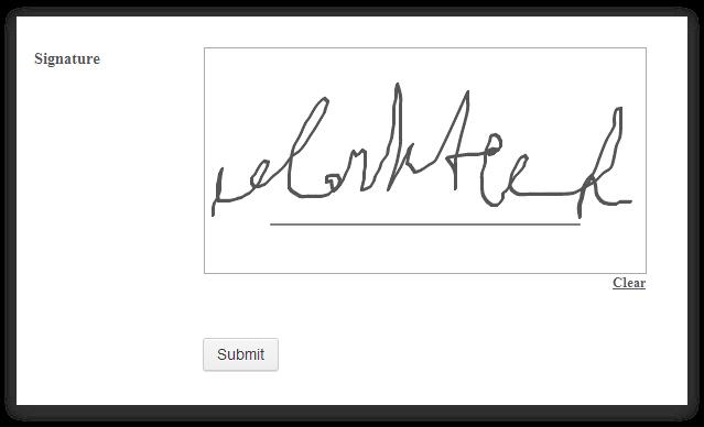 how to write a signature
