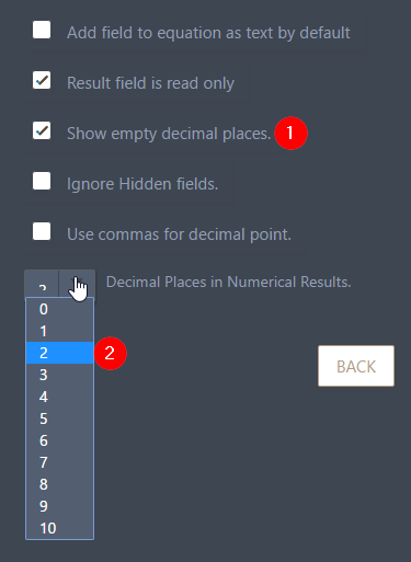 Have An Option To Set The Number Of Empty Decimal Places You Wish To Render On The Widget But It Looks Like This Option Is Not Working At The Moment