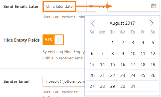 Send Email Later - On a later date