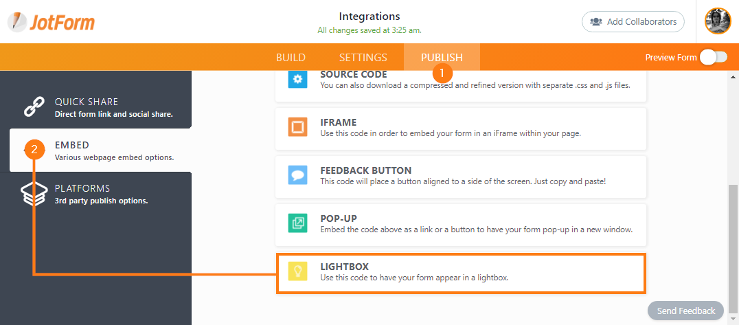 How to Create a Lightbox Form