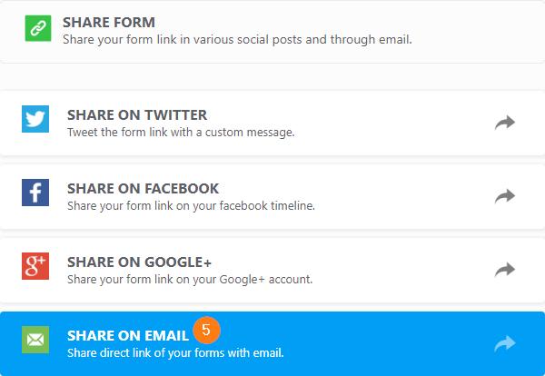 how to send a form via email jotform
