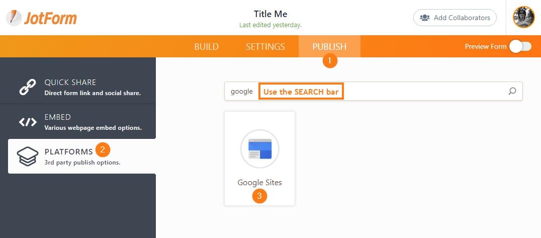 Adding a form to google sites jotform 4 maxwellsz