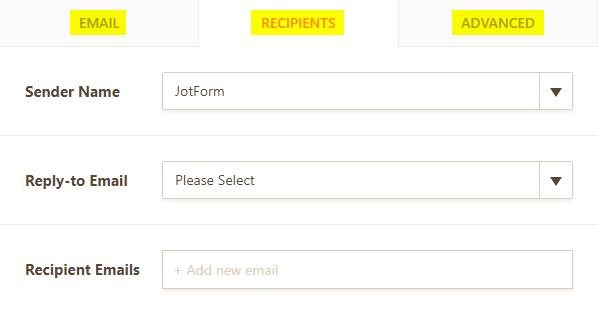 Setting Up Email Notifications Jotform