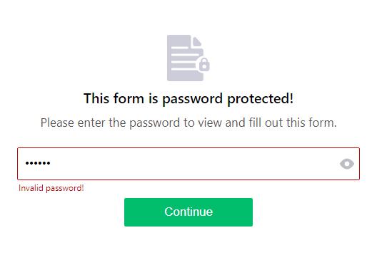 Invalid password!