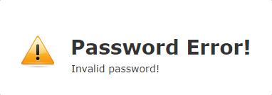 Password Error!