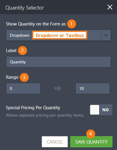 Quantity Selector