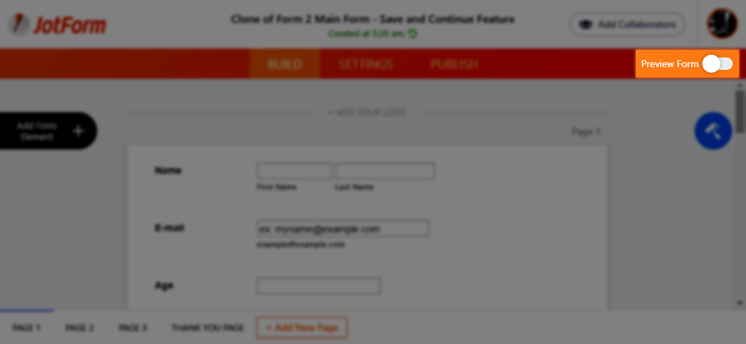 How to Save Forms and Continue Later