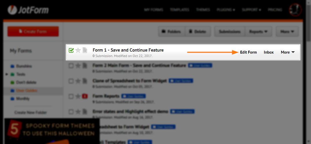 How to Save Forms and Continue Later | JotForm