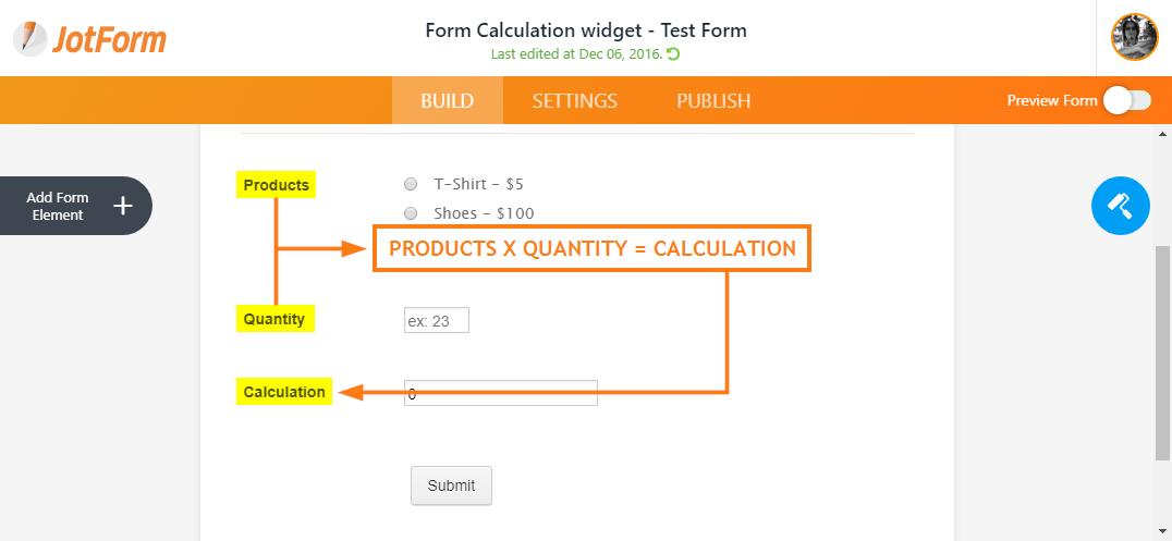 Calculation Value