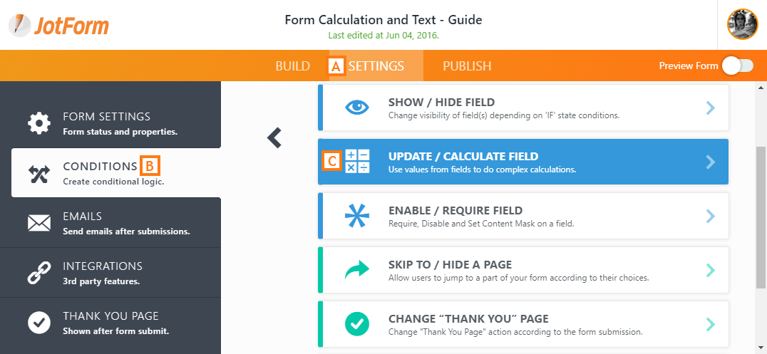 how to add form into a page