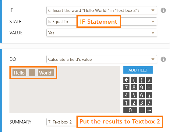How to Insert Text or Calculation into a Field Using Conditional Logic
