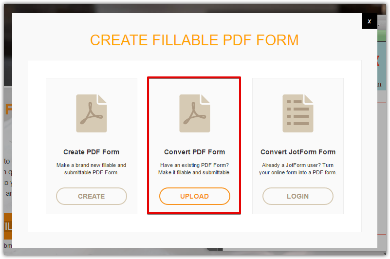 How can I use an existing PDF form and convert it into an online ...