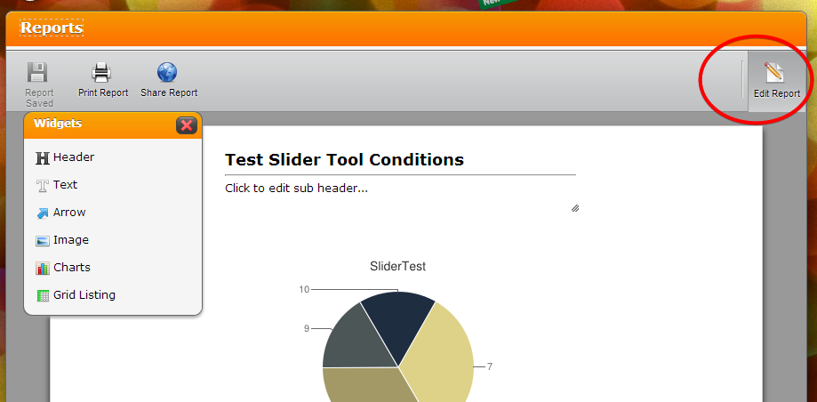Visual Report Builder: Not working Edit button