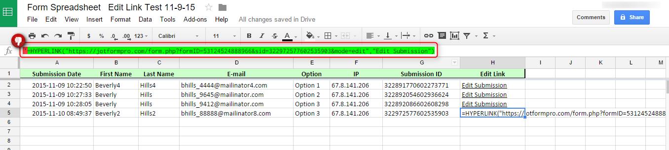 Google Spreadsheet Integration: Edit Link in Google Spreadsheets ...