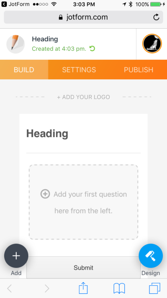 Create Form on Mobile