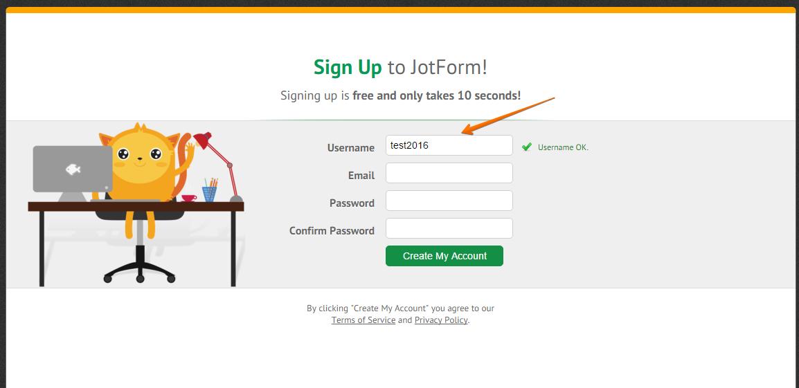 how to change password jotform
