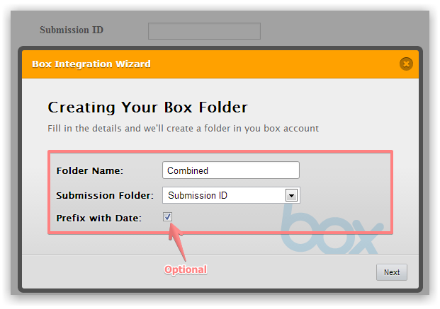 Box.Net submissions syncing by Submission ID | JotForm